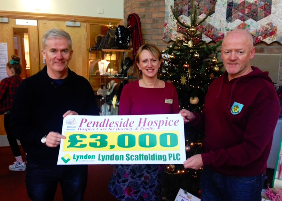 £80,000 Raised For Charities by Lyndon Scaffolding
