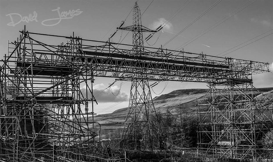 Substation works - Power transmission