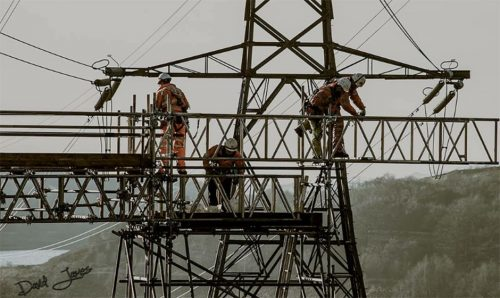 Overhead line protection scaffolds - Power Transmission