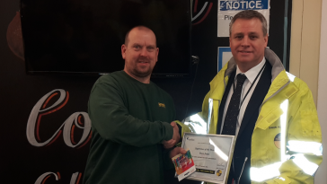 Lyndon Supervisor nets Carillion Award!