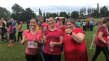 "Lyndon ""Finance Fillies"" on Pretty Muddy Fun Raiser"