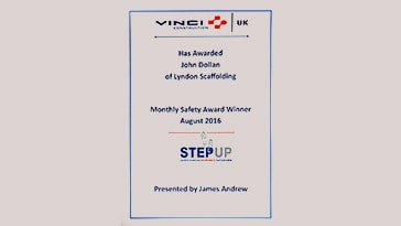 VINCI Construction Safety Award